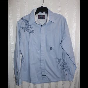 English Laundry Men's Button Front Shirt